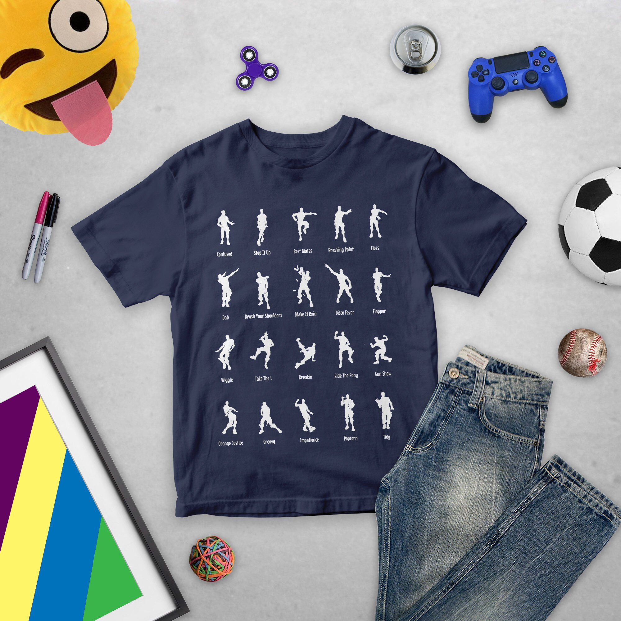 Switch Shoulders Fortnite Fortnite Emotes Dancing Characters T Shirt Top Tee Fornite Battle Royale Floss Best Mates T Shirt Kids Chil Childrens T Shirt Top Trending Outfits