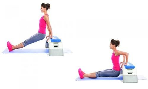 Tricep Dips Work Out Both Your Hands And Your Stomach To