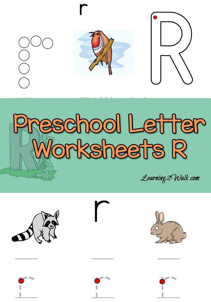 Free Preschool Letter R Worksheets- Learning 2 Walk | Pinterest ...