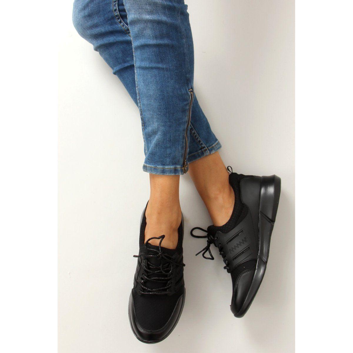 Lekkie Buty Sportowe B3120b Sp Black Czarne Womens Oxfords Oxford Shoes Shoes