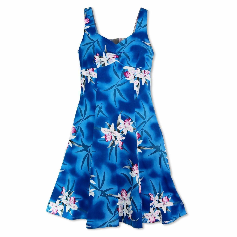 c026fc857e6 Poipu Blue Molokini Hawaiian Dress  floraldress  hawaiiandress