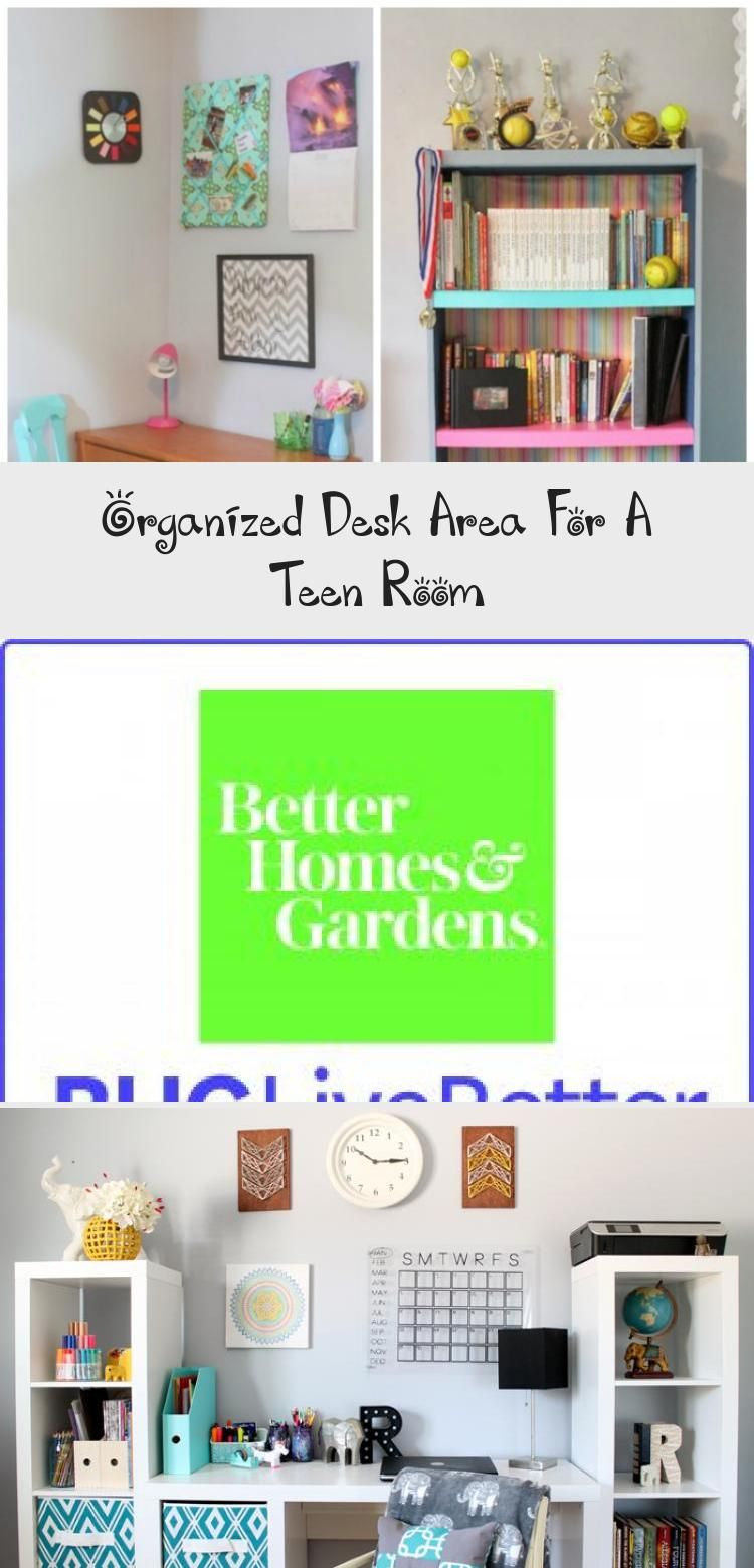 This organized desk area is perfect for a teen room! Get great ideas for organiz… Young room