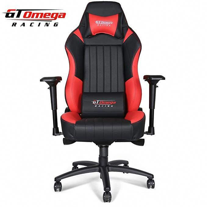 Gt Omega Evo Xl Racing Office Chair Black And Red Leather Esport Gaming Seat Review Officegamingchair