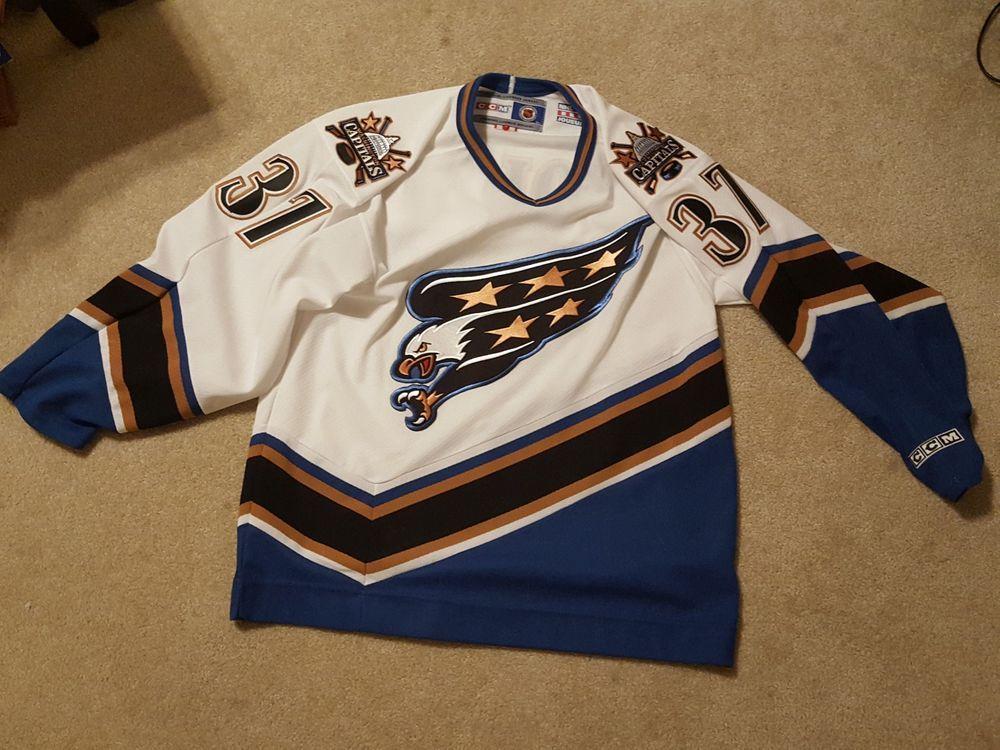 25bf2ff3 Washington Capitals Goalie Olaf Kolzig CCM Jersey #37 LARGE (eBay Link)
