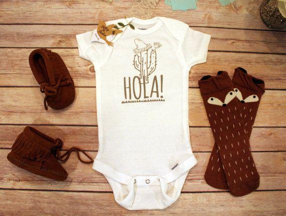 34e0bbc78 Hola Onesie® Funny Baby Onesies Cinco De Mayo by BittyandBoho   Nina ...