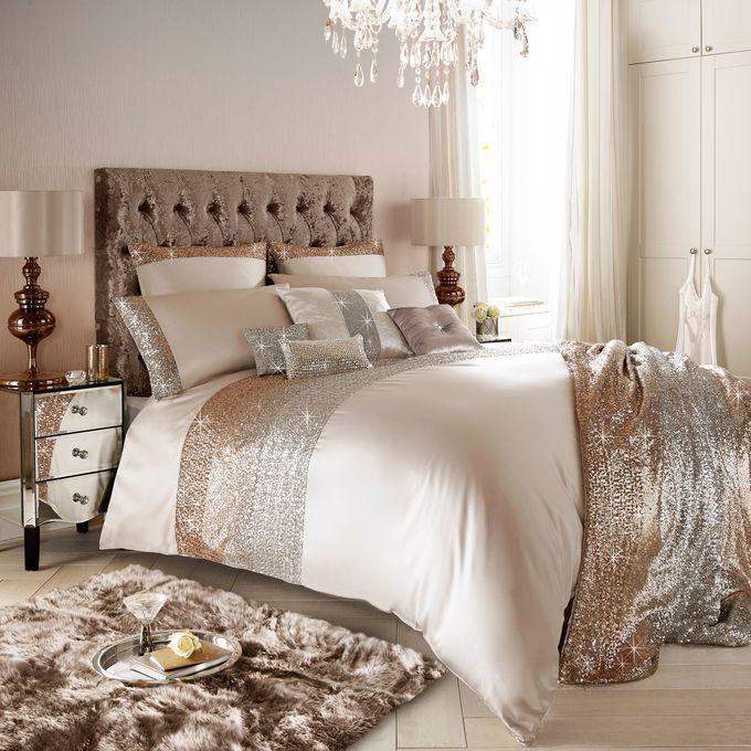 Best Kylie Minogue Mezzano Rose Gold Bedding Blush Bedroom 640 x 480