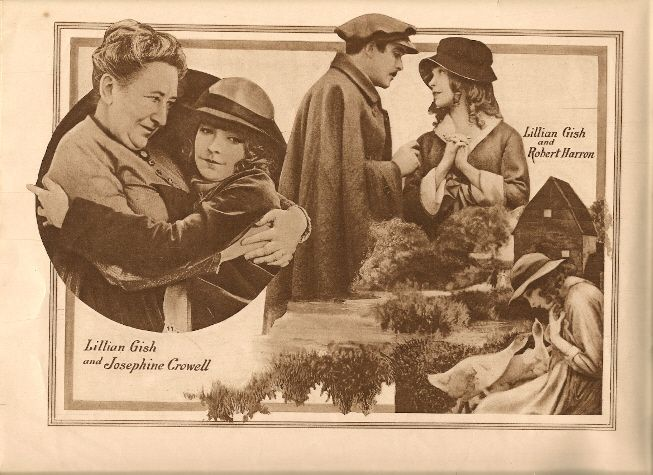 D. W. Griffith's HEARTS OF THE WORLD (1918) movie program.  Lillian Gish, Robert Harron and Josephine Crowell