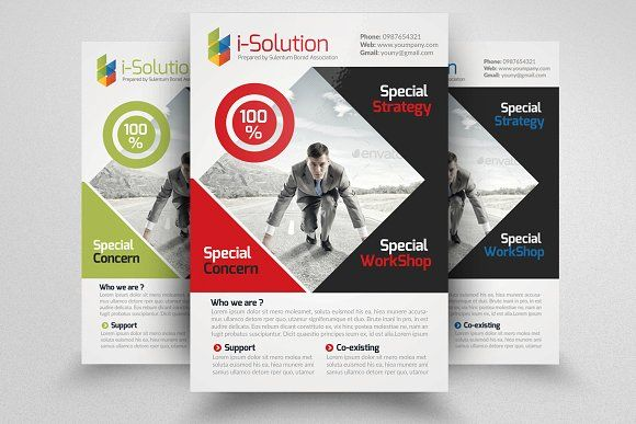 Business Strategy Flyer Template  Flyers Flyer Template And Template