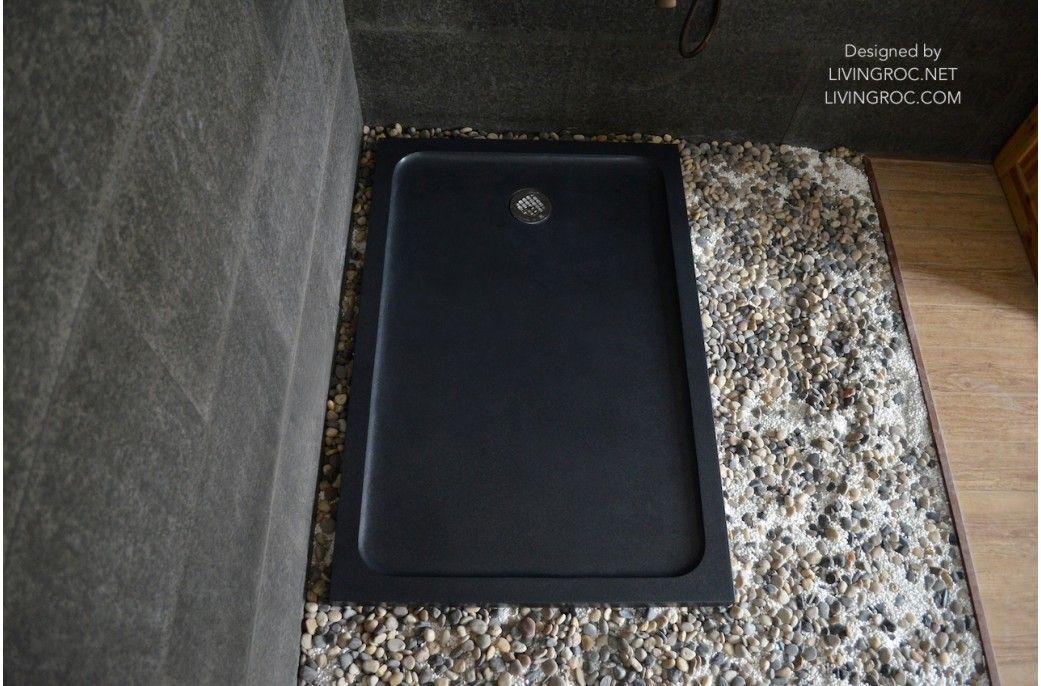 1200 x 900 Black Granite Stone Shower Tray - RUBIX SHADOW ...