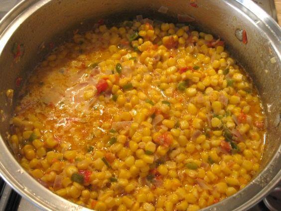 Maque Choux – Spicy Cajun Corn #cajuncooking