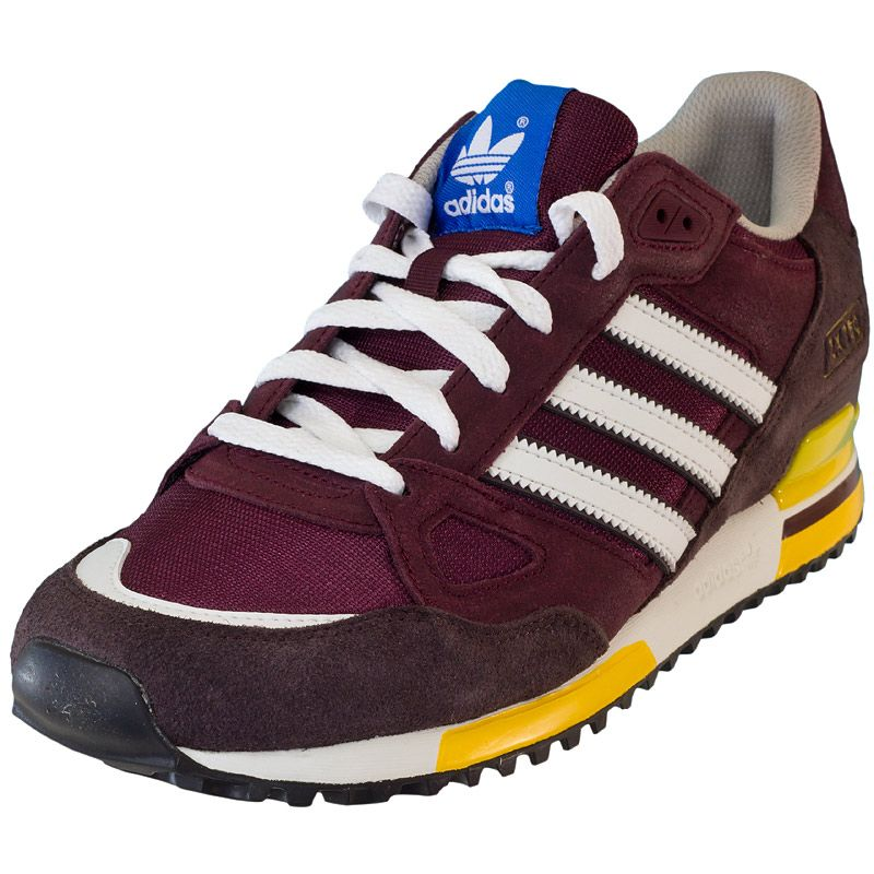 Sneaker Adidas ZX 750 maroon white  73697428488a