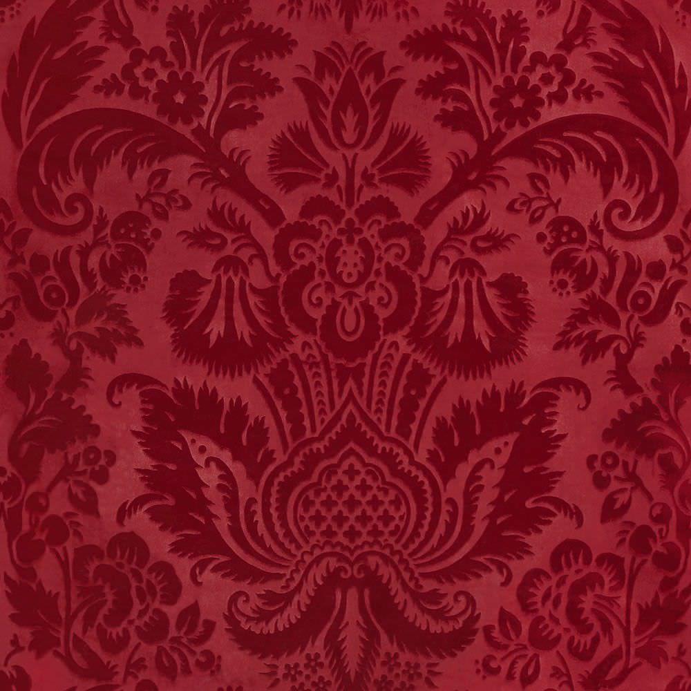 Curtain fabric / upholstery / patterned / velvet EDEN