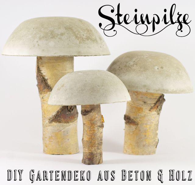 selbstgemachte steinpilze beton pinterest pilze steinpilze und holz. Black Bedroom Furniture Sets. Home Design Ideas