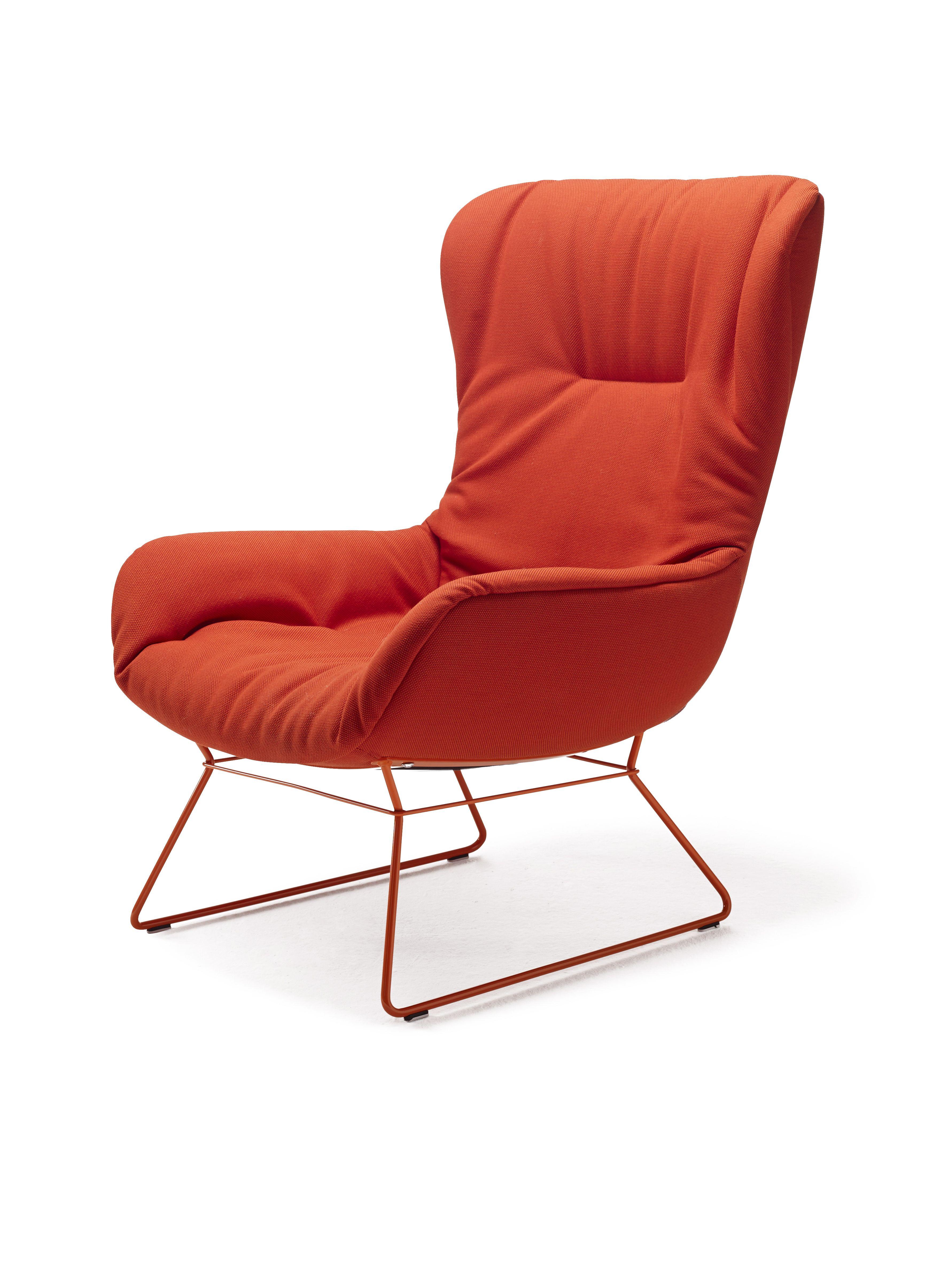 Leya wingback chair bright red design by birgit