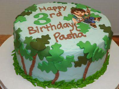 Outstanding Go Diego Go Birthday Cake Birthday Party Cake Boy Birthday Cake Personalised Birthday Cards Epsylily Jamesorg