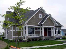 Elevation of Bungalow Craftsman House Plan 56605