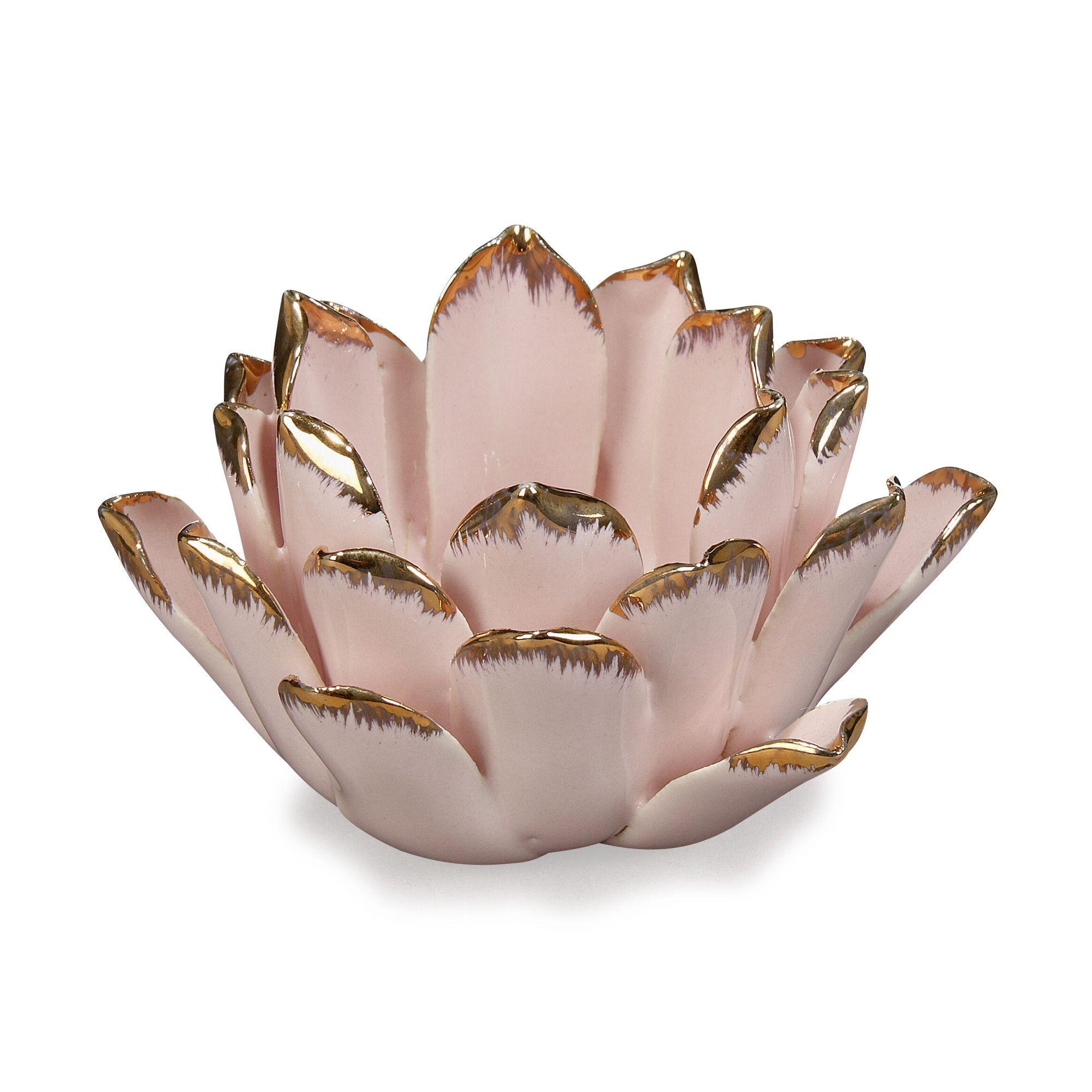 Lumignon en céramique rose en forme de lotus Rose - Romy - Les ...