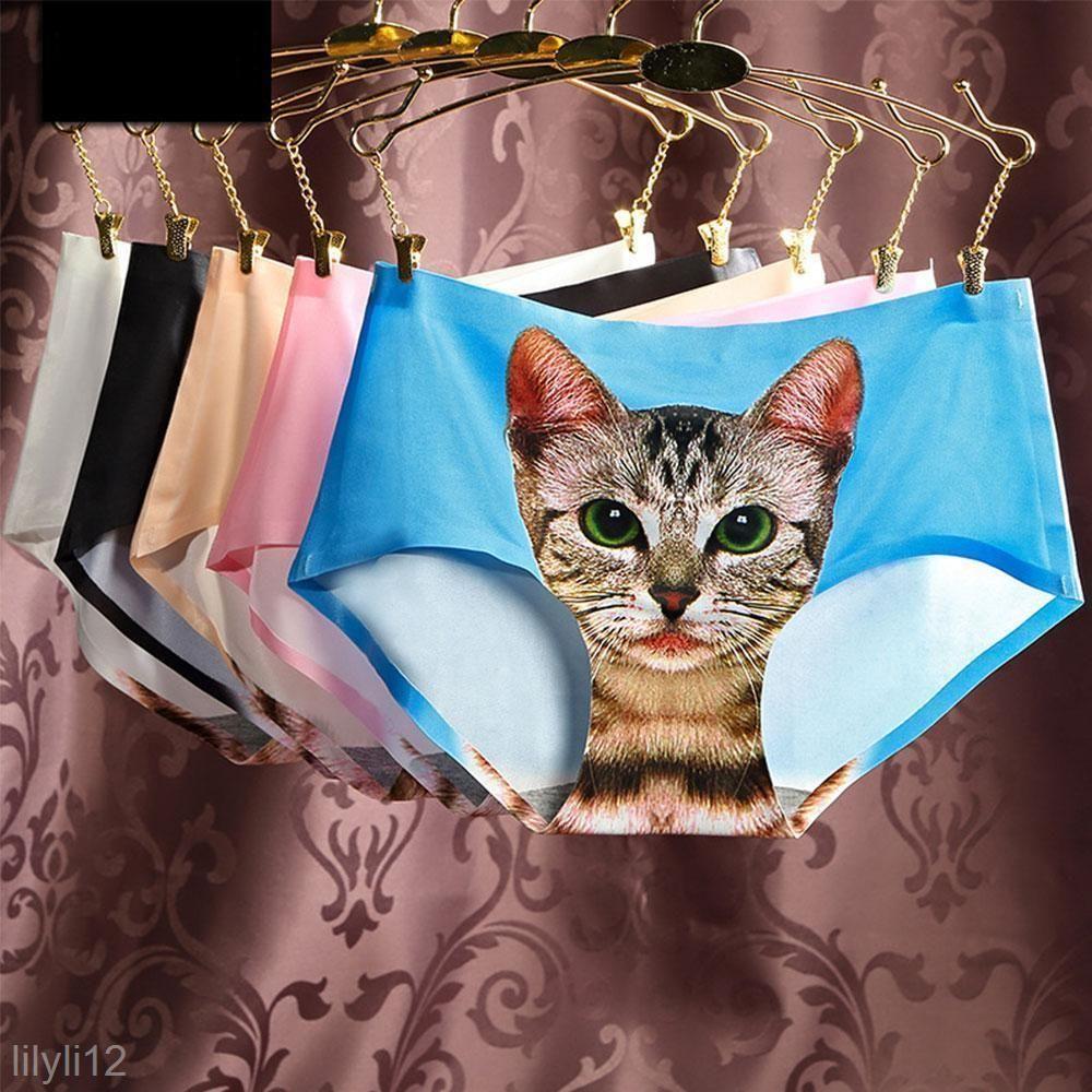 Women S Pussycat Panties Anti Emptied 3D Cat Printing Underwear Seamless  Briefs d66a7d72d