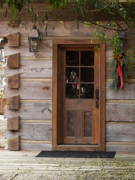 Cute entrance | Cabin doors, Rustic cabin, Front door