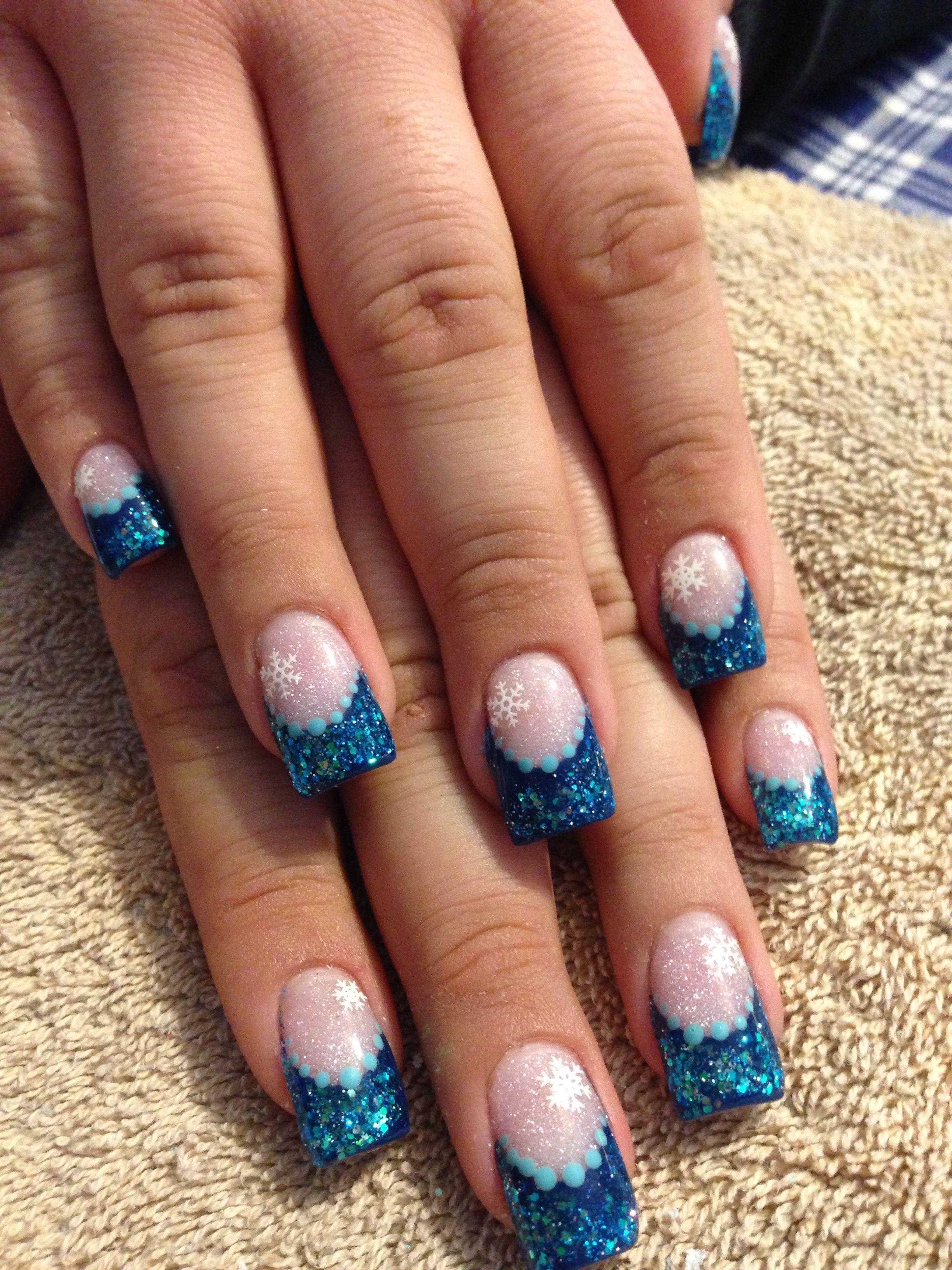 Acrylic Nail Holiday Design Nails Pinterest Winter Nails