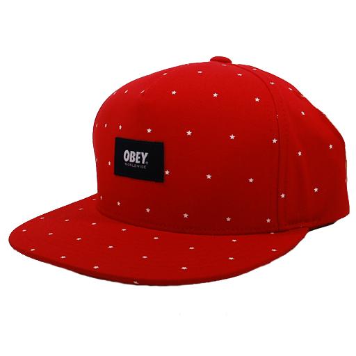 Obey Franklin Snapback Hat Red Snapback Hats Headwear Hats