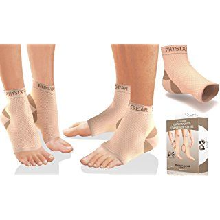 61f2149530 Plantar Fasciitis Socks with Arch Support, BEST 24/7 Foot Care Compression  Sleeve, Better than Night Splint, Eases Swelling & Heel Spurs, Ankle Brace  ...