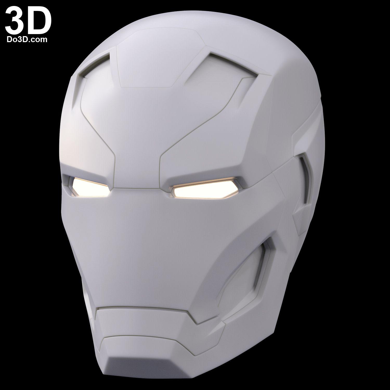 3D Printable Model: Mark XLVI XLVII Helmet (Iron Man MK 46