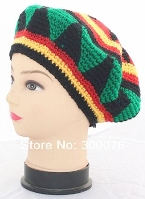 Knitted Jamaican Hat Tam Rasta Fancy Dress Party Costume 6ef0bf7333c4