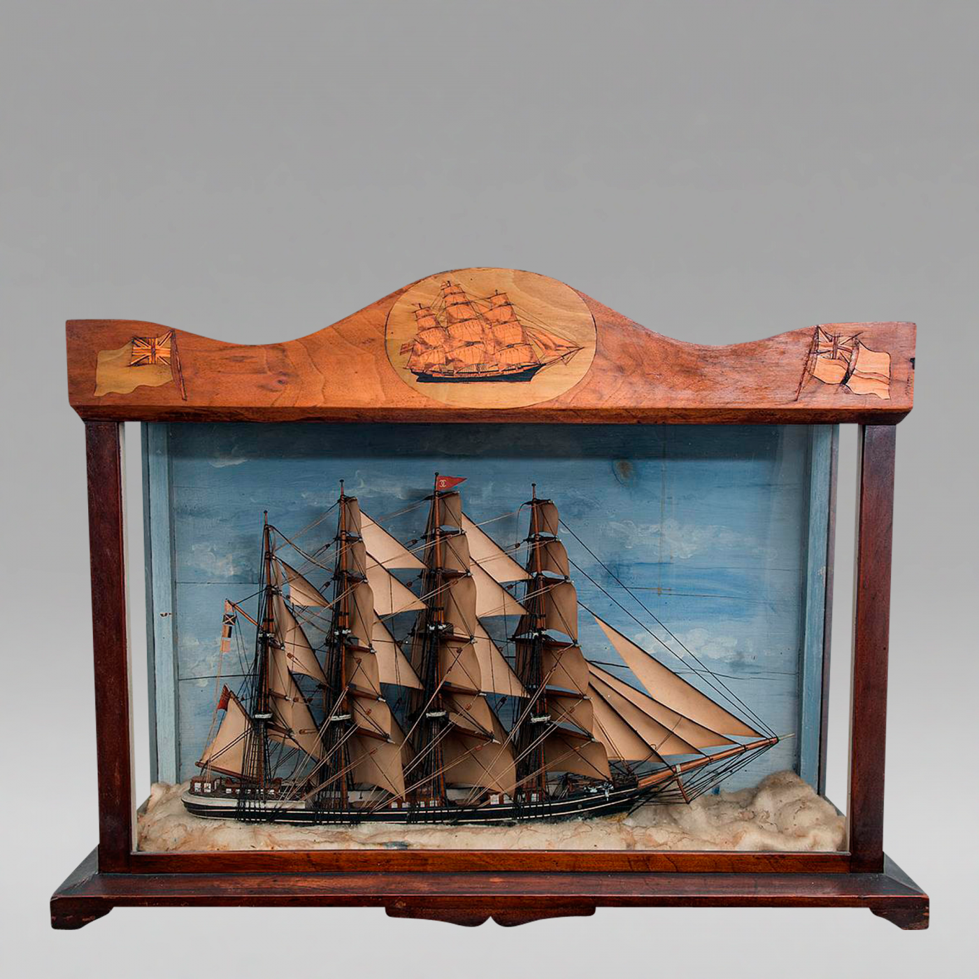 Trinity House Cased Diorama of an English Clipper Ship c 1865
