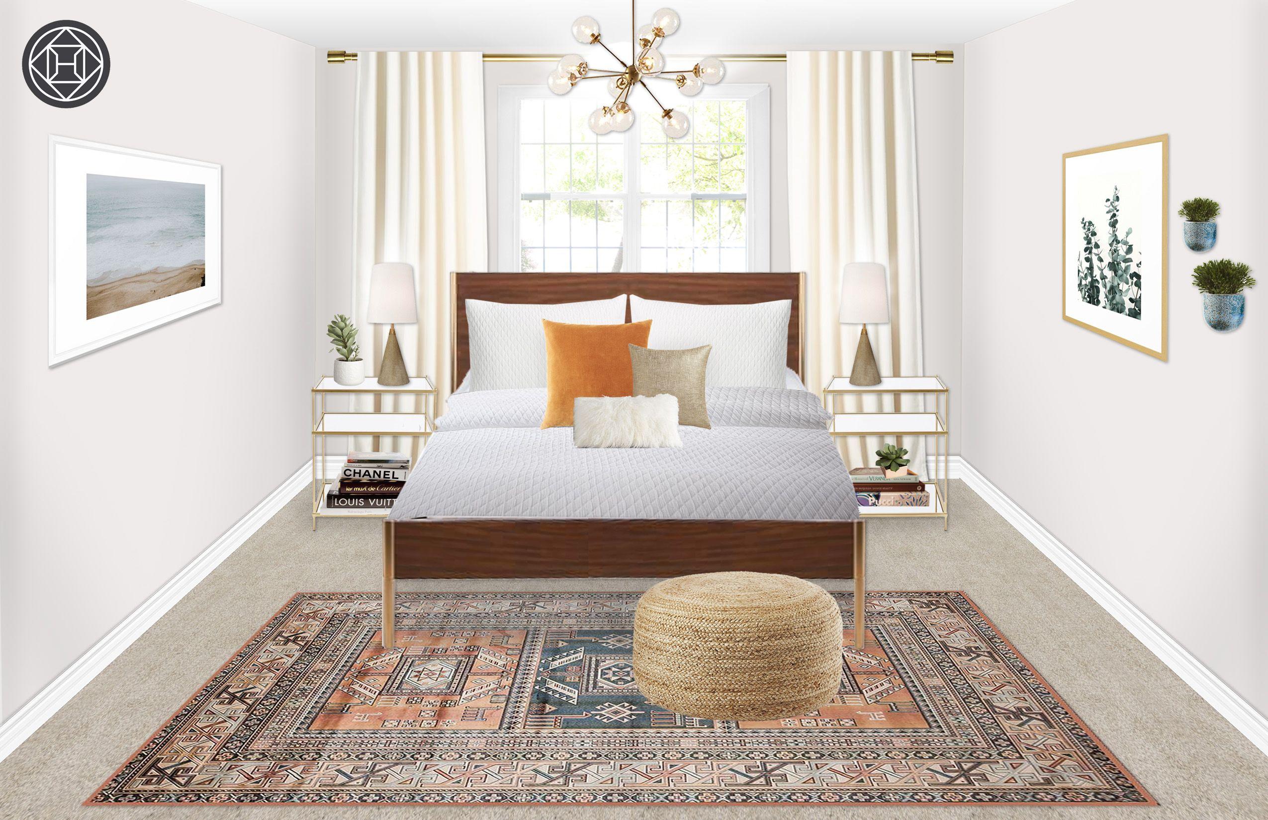Contemporary Eclectic Bohemian Midcentury Modern Bedroom Design By Havenly Interior Designer Robyn Mid Century Modern Bedroom Design Eclectic Bedroom Mid Century Modern Bedroom