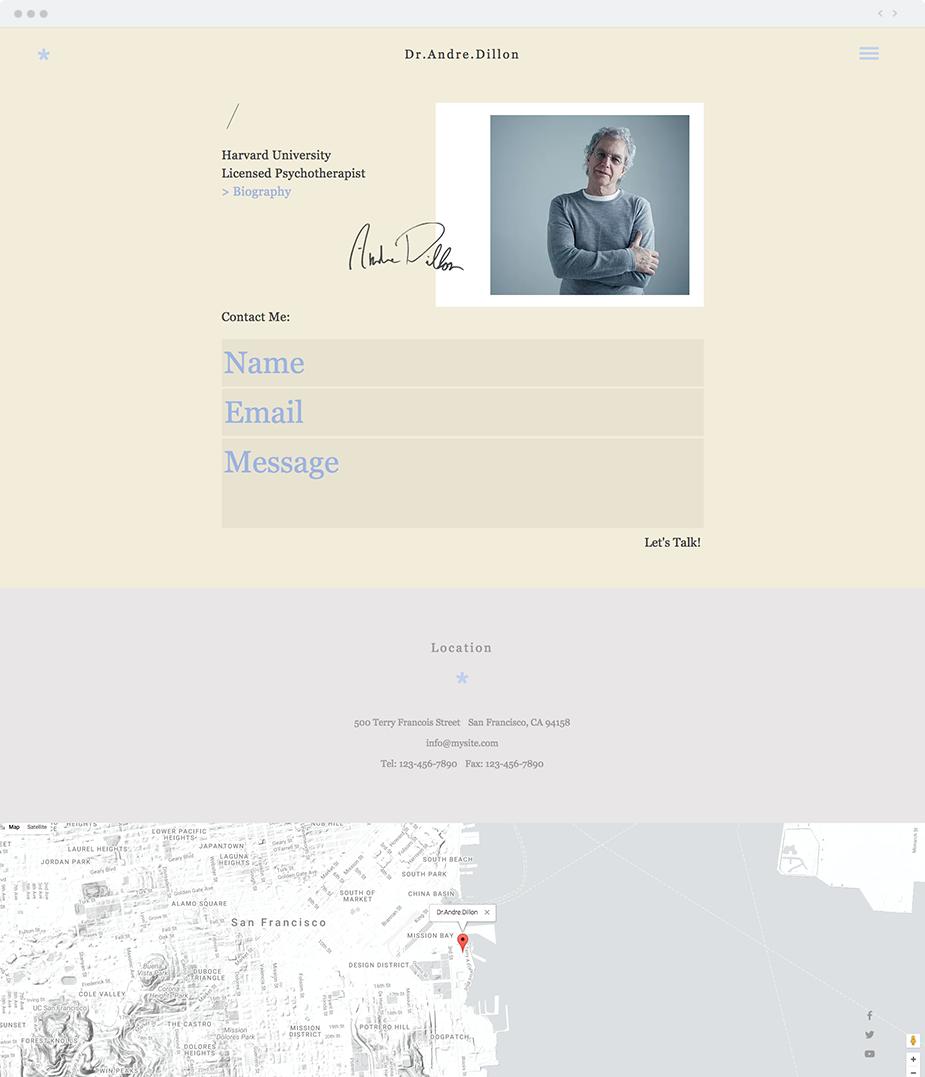 Psychotherapist Website Template   Wix Website Templates   Pinterest ...