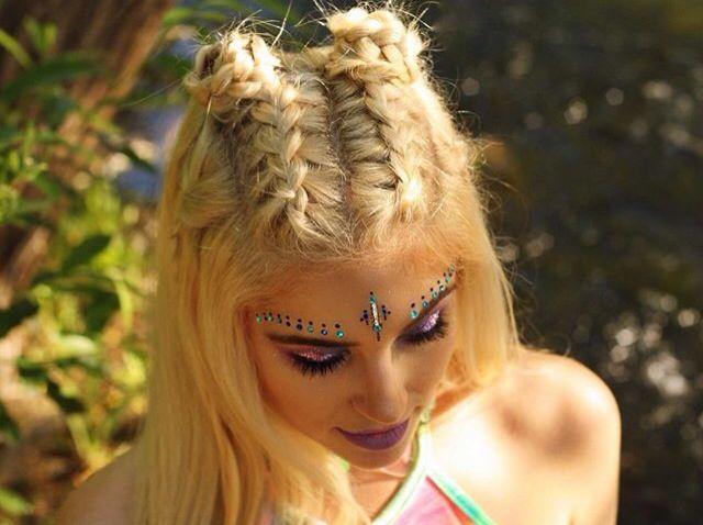 Groovy Festie Hair Braids For Long Hair Rave Hair Concert Hairstyles Schematic Wiring Diagrams Amerangerunnerswayorg
