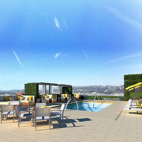 The Roof on Wilshire, a new alfresco rooftop restaurant and lounge...