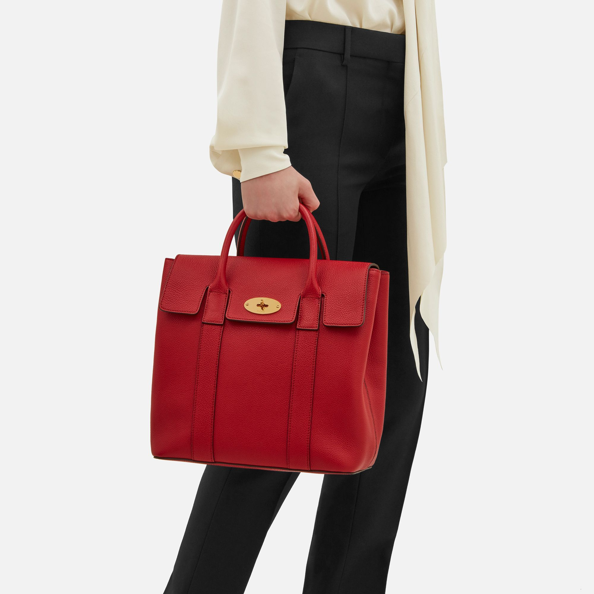 Bayswater Backpack   Scarlet Red Small Classic Grain   Women   Mulberry 67ced7b5ee