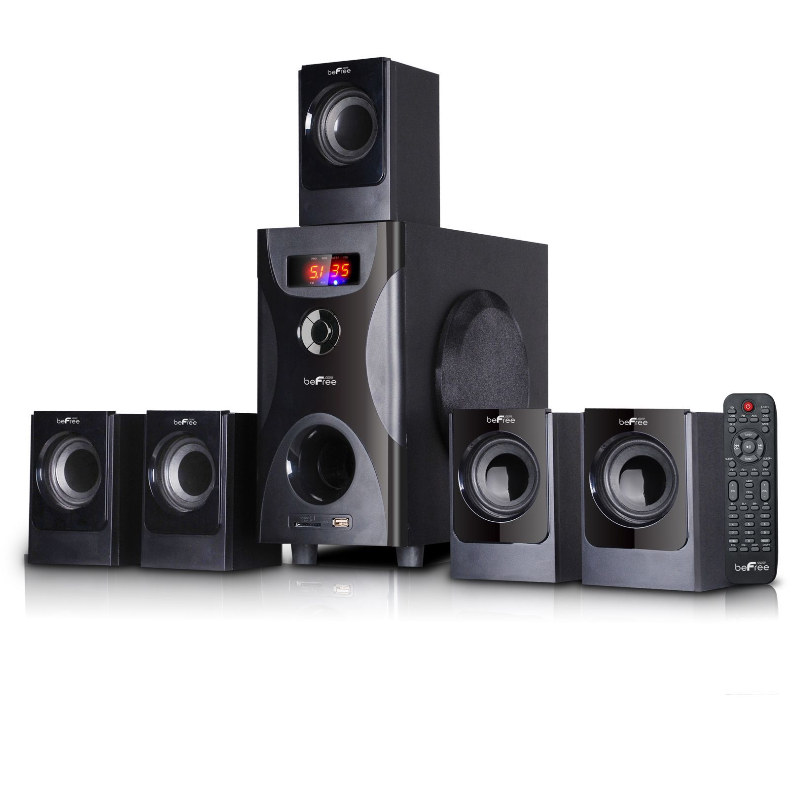 beFree Sound 5 1 Channel Surround Sound Bluetooth Speaker System