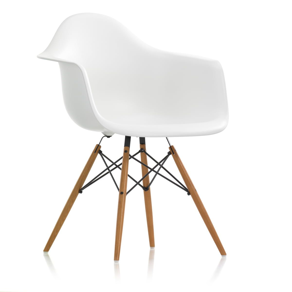 Vitra Lounge Chair Tweedehands Vitra Eames Plastic Armchair Daw H 43 Cm Honey Ash White