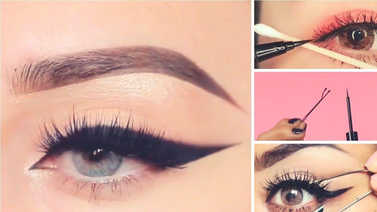 ١٥ طريقة سهلة وسريعة لتحترفي رسم الآيلاينر Eye Makeup Makeup Eye Art