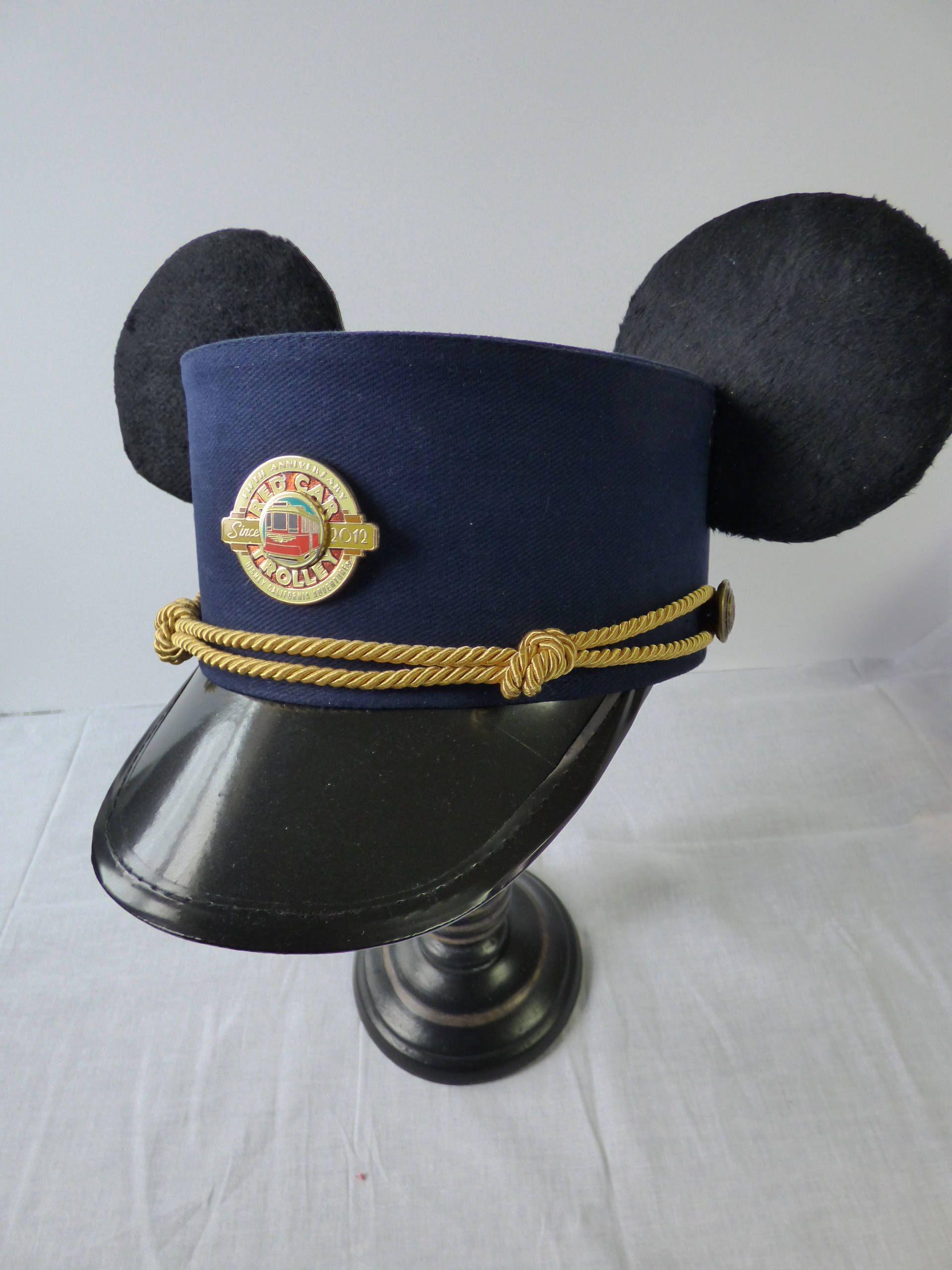 Custom Mickey Ears Red Trolley Conductor Hat 1baf7dfa6f7
