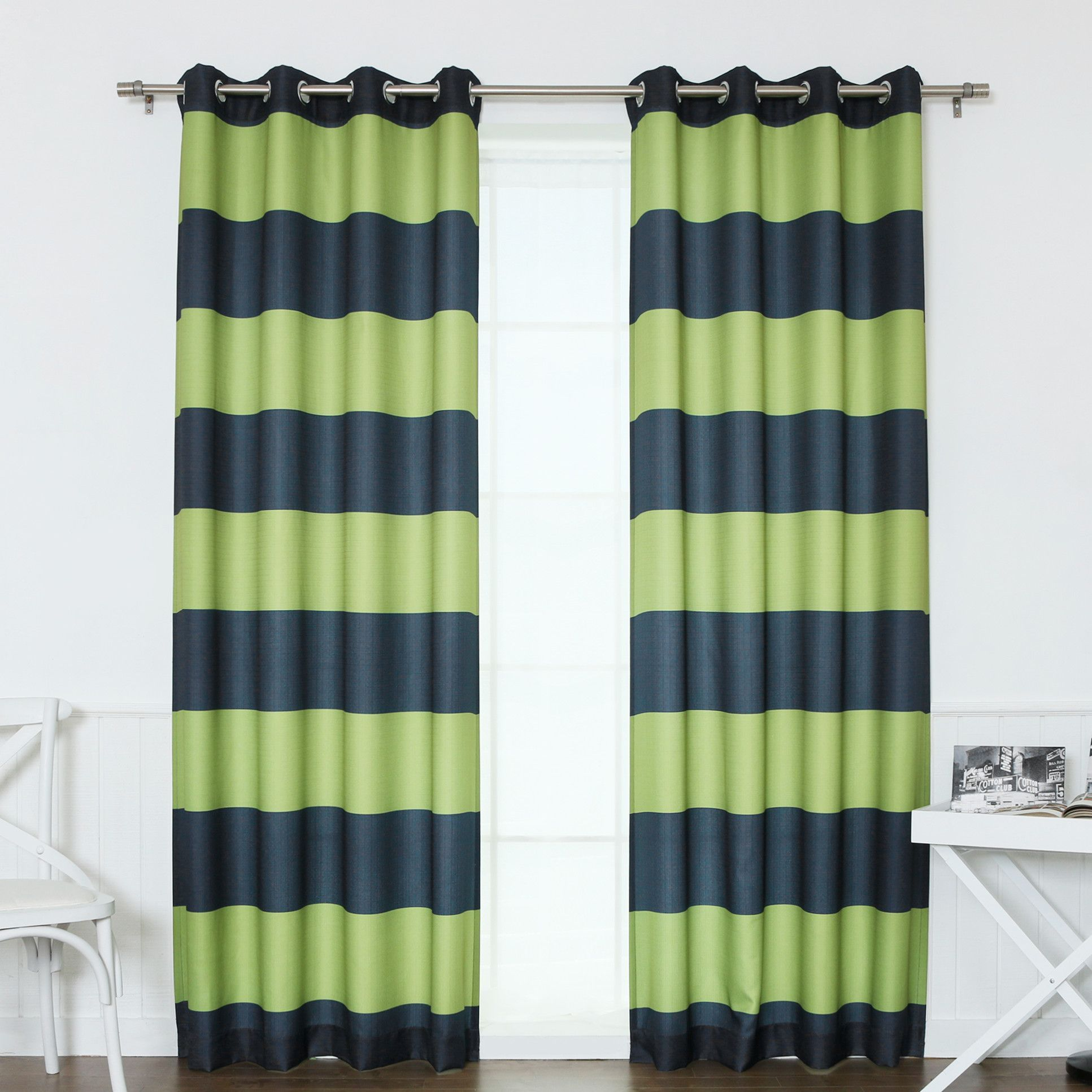 Rugby Stripe Curtain Panels