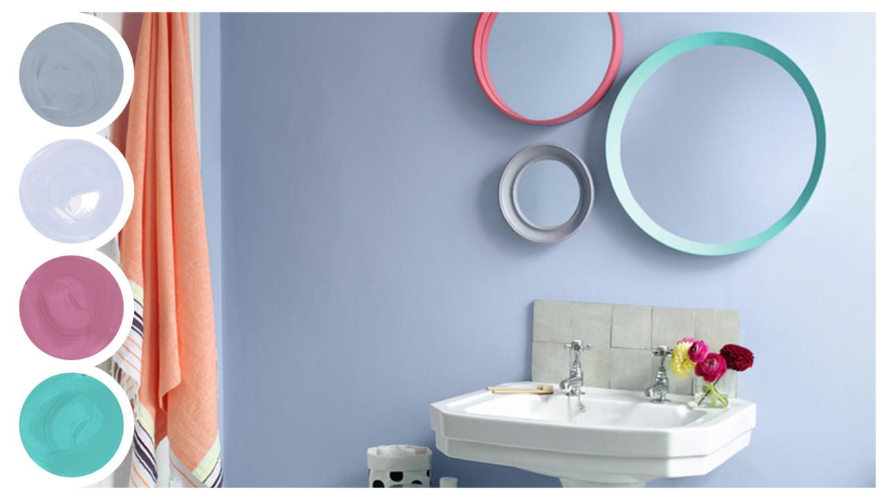 Dream Scheme Blissful Blue Bathroom Dulux Blue Bathroom Dulux Round Mirror Bathroom