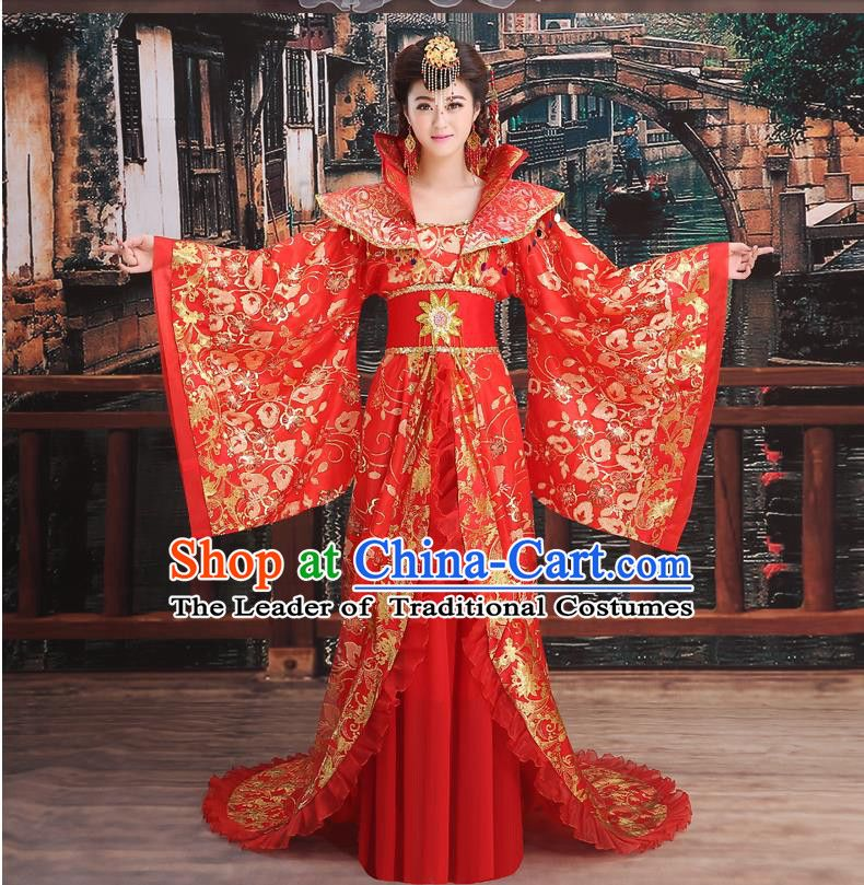 Ancient Chinese Palace Empress Costumes Complete Set, Tang