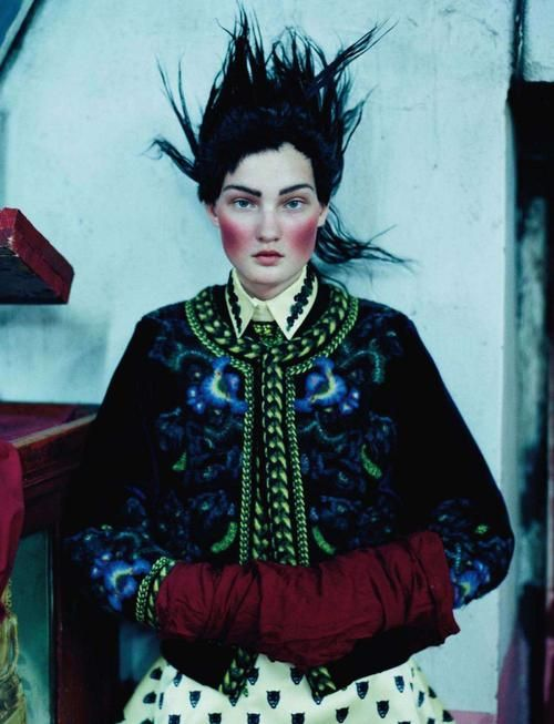 Kirsi Pyrhönen wears Givenchy in 'An Awfully Big Adventure' by Tim Walker for Vogue UK, December 2011.