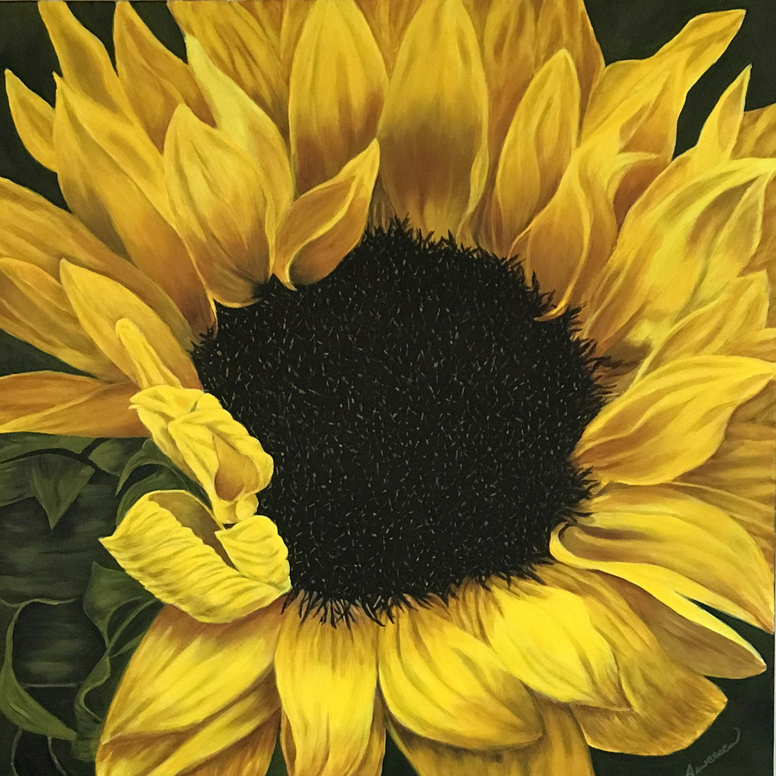 Painting On Canvas Acrylic Painting Large Flower Sunflower