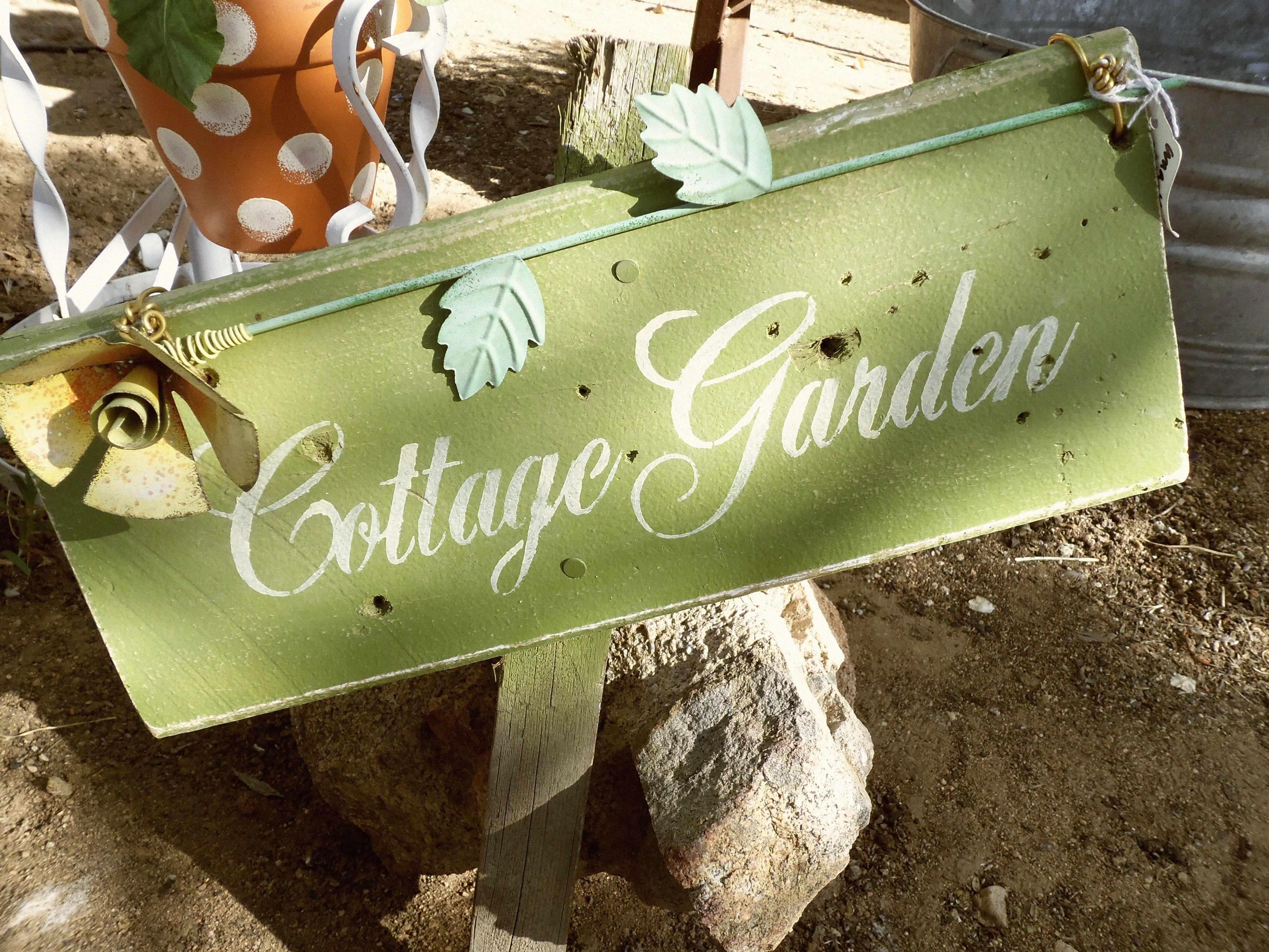 Cottage garden sign garden signs how to make signs