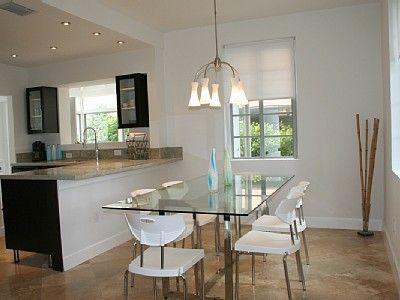 Mesa de vidro para cozinha - Fotos Dining room table, Dining area