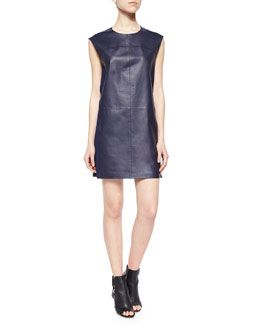 5f105076490 T9YZZ Vince Sleeveless Leather Shift Dress | Fall Fashion Wants ...