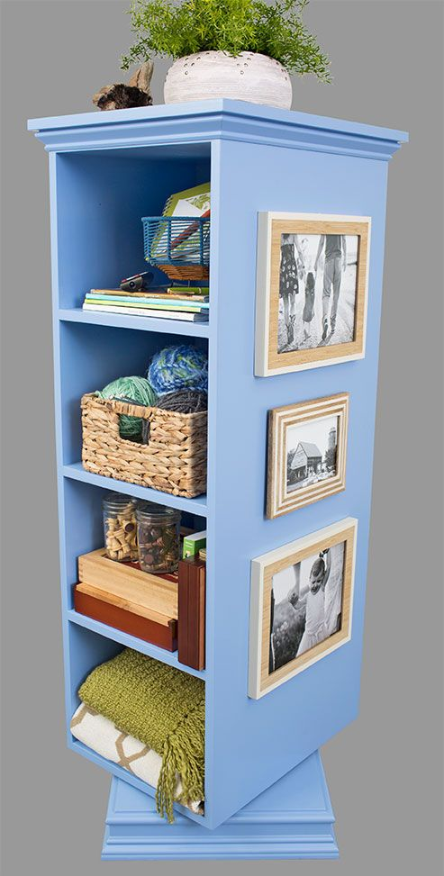 Loweu0027s Creative Ideas Digital Magazine   Spinning Storage Tower For Family  Room | Woodworking | Pinterest | Creative, Storage And Room
