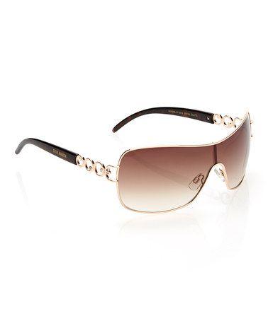 1a5ebb6b231 Brown Glam Shield Sunglasses by Steve Madden  zulily  zulilyfinds ...
