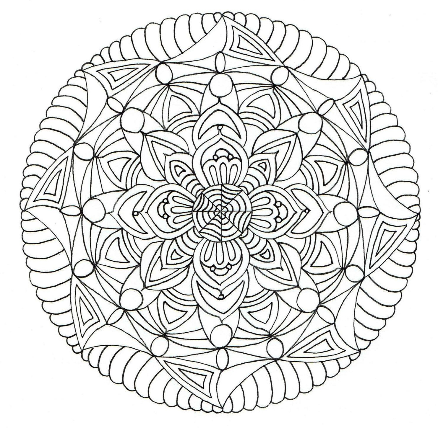 Adult Colouring Page - Mandala 2. by KafsKrafts on Etsy