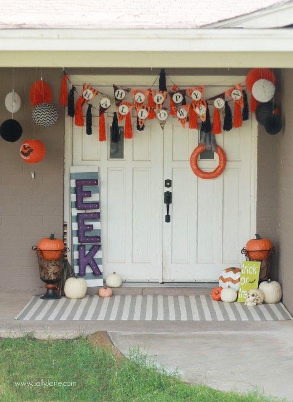 Easy Halloween porch decor Halloween porch, Easy halloween and - halloween cute decorations